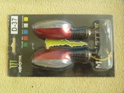 Светодиодные поворотники на мотоцикл красные