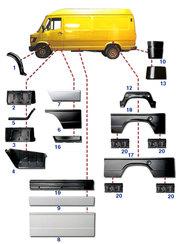 Мерседес Т1 (207-410) кузовные автозапчасти